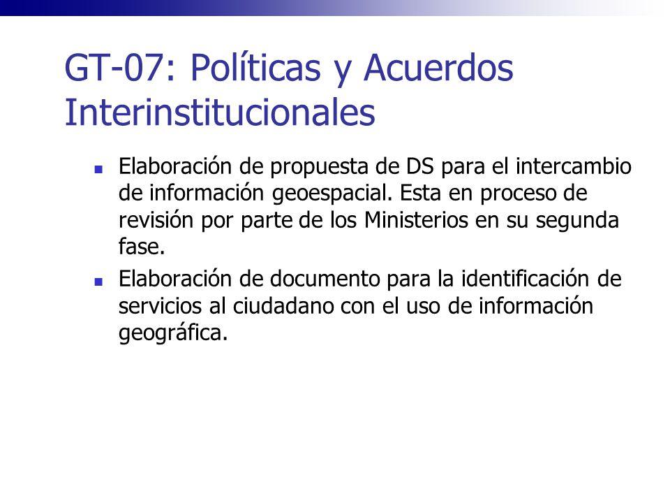 GT-07: Políticas y Acuerdos Interinstitucionales