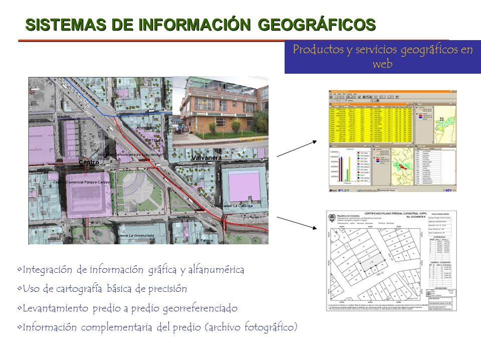 Productos y servicios geográficos en web
