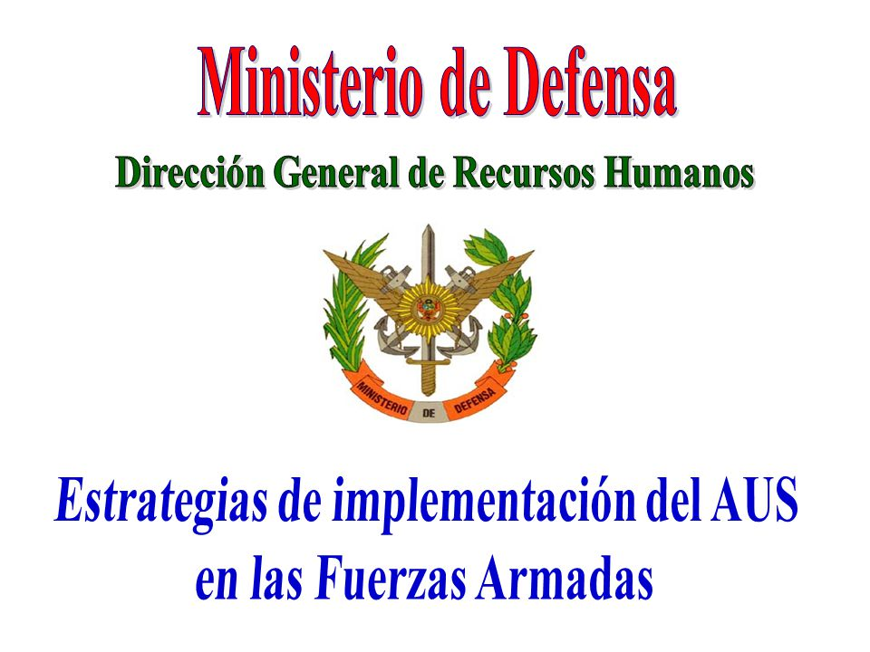 Ministerio de Defensa Dirección General de Recursos Humanos