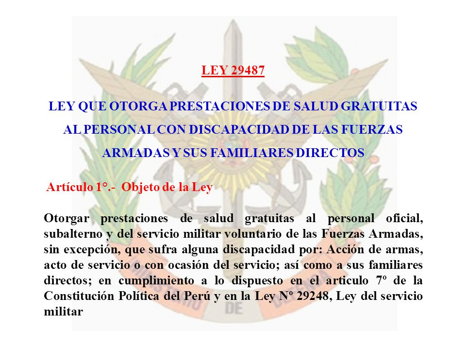 LEY QUE OTORGA PRESTACIONES DE SALUD GRATUITAS