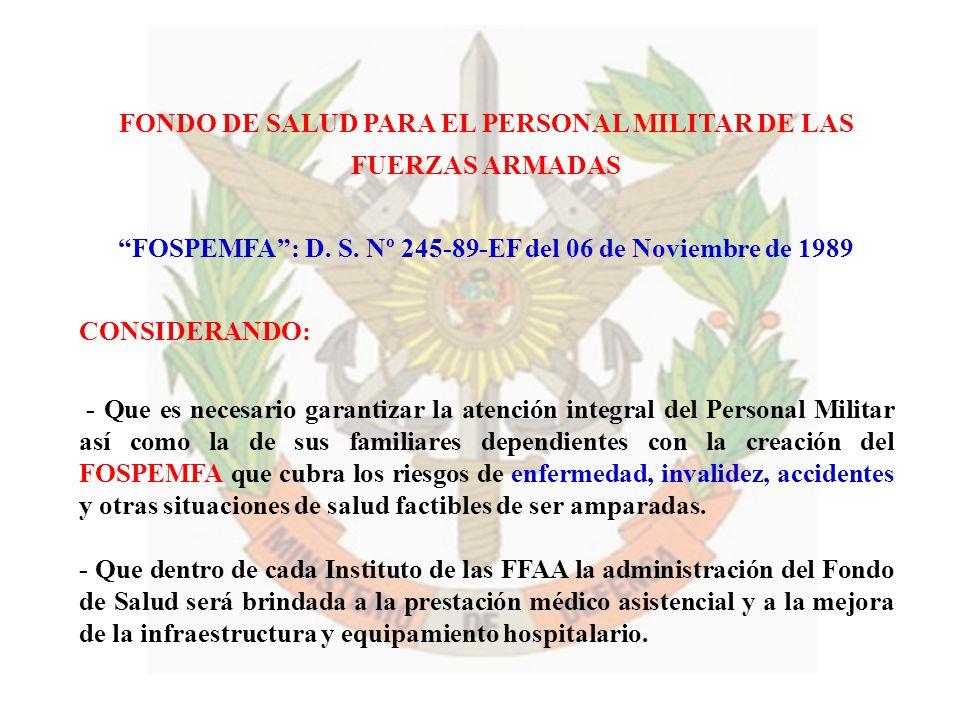 FONDO DE SALUD PARA EL PERSONAL MILITAR DE LAS FUERZAS ARMADAS