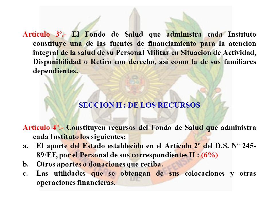 SECCION II : DE LOS RECURSOS