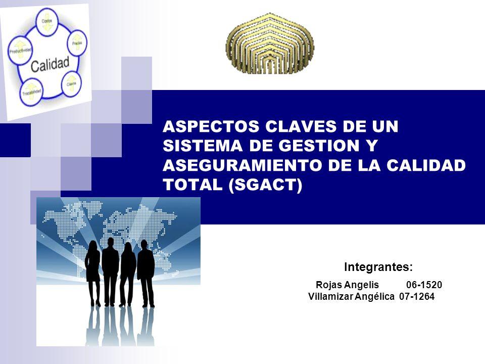 ASPECTOS CLAVES DE UN SISTEMA DE GESTION Y ASEGURAMIENTO DE LA CALIDAD TOTAL (SGACT)