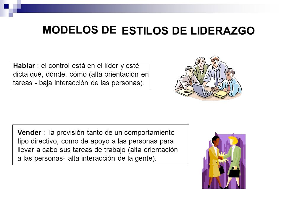 ESTILOS DE LIDERAZGO MODELOS DE