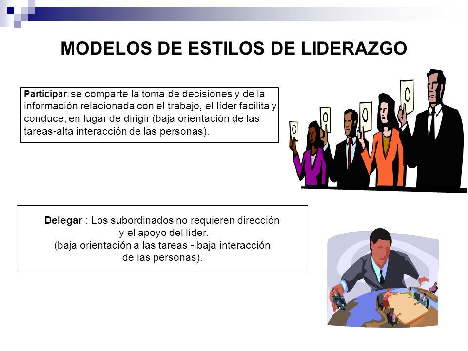 MODELOS DE ESTILOS DE LIDERAZGO