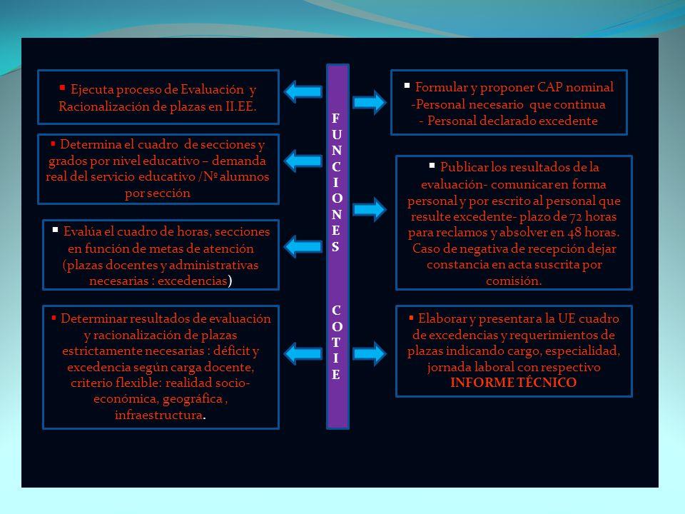 Ejecuta proceso de Evaluación y Formular y proponer CAP nominal