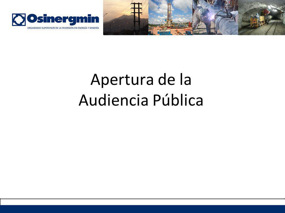 Apertura de la Audiencia Pública