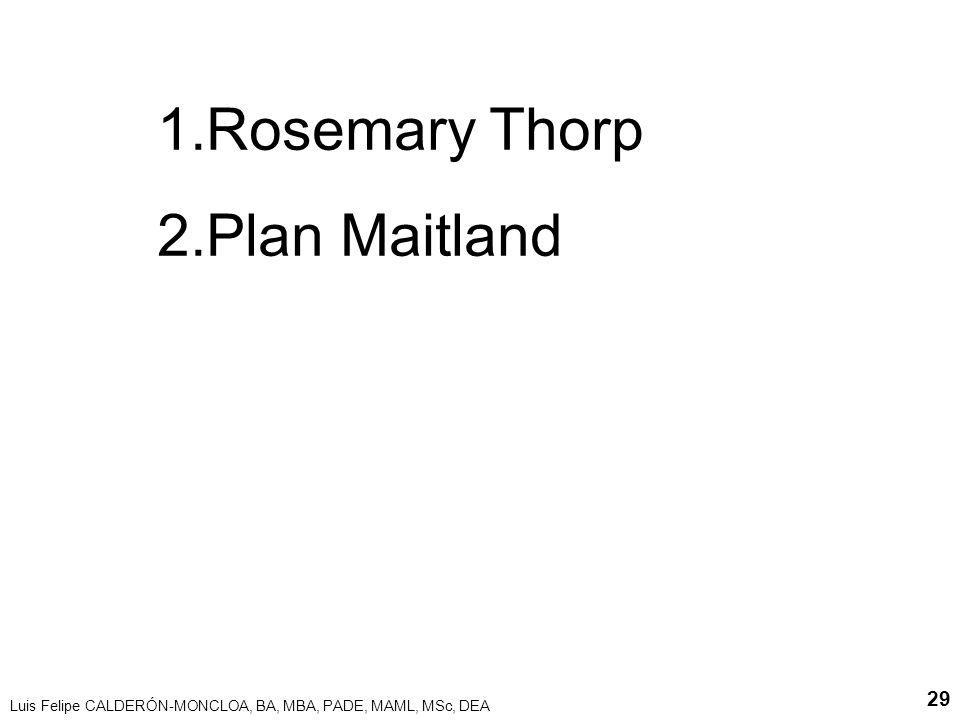 Rosemary Thorp Plan Maitland