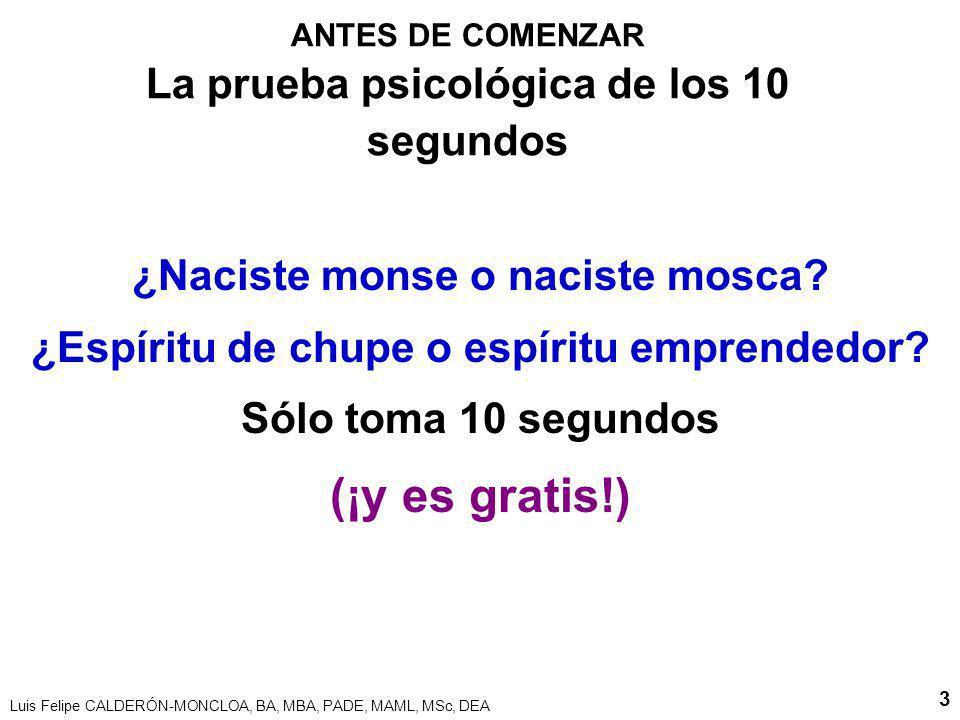 ANTES DE COMENZAR La prueba psicológica de los 10 segundos