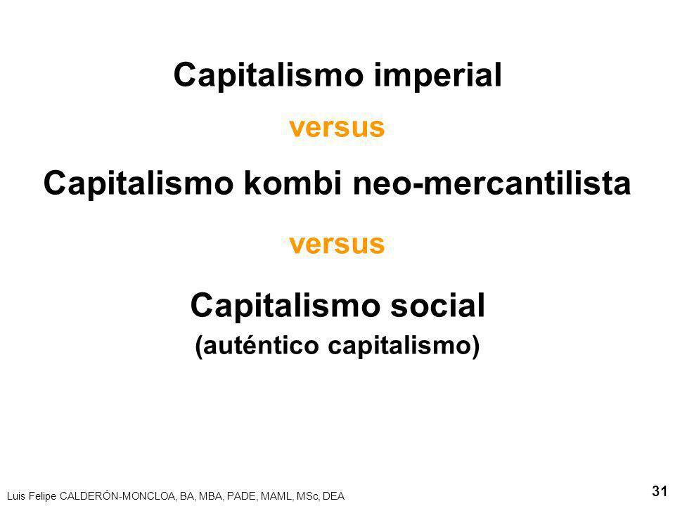 Capitalismo kombi neo-mercantilista (auténtico capitalismo)