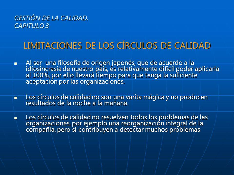 GESTIÓN DE LA CALIDAD. CAPITULO 3