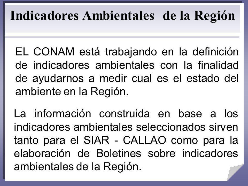 Indicadores Ambientales de la Región