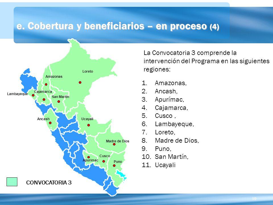 e. Cobertura y beneficiarios – en proceso (4)