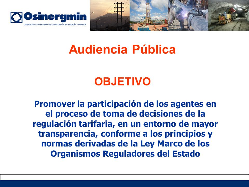 Audiencia Pública OBJETIVO