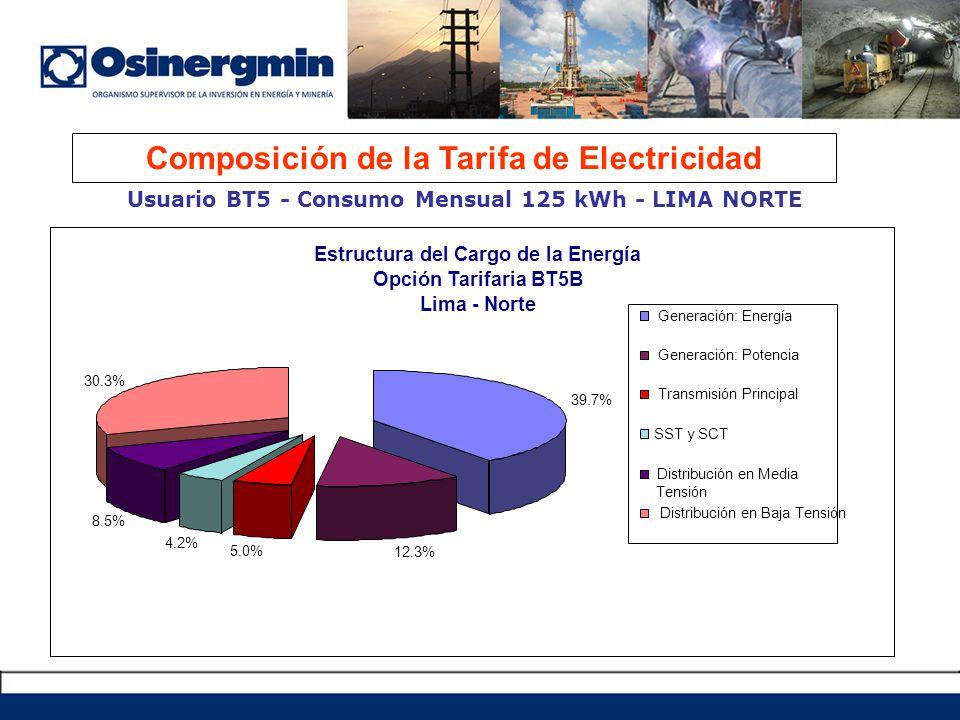 Composición de la Tarifa de Electricidad