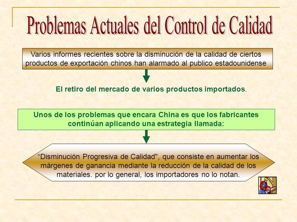Problemas Actuales del Control de Calidad