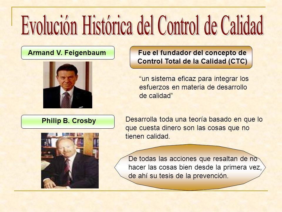 Fue el fundador del concepto de Control Total de la Calidad (CTC)