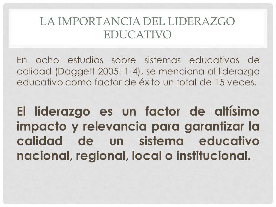 LA IMPORTANCIA DEL LIDERAZGO EDUCATIVO
