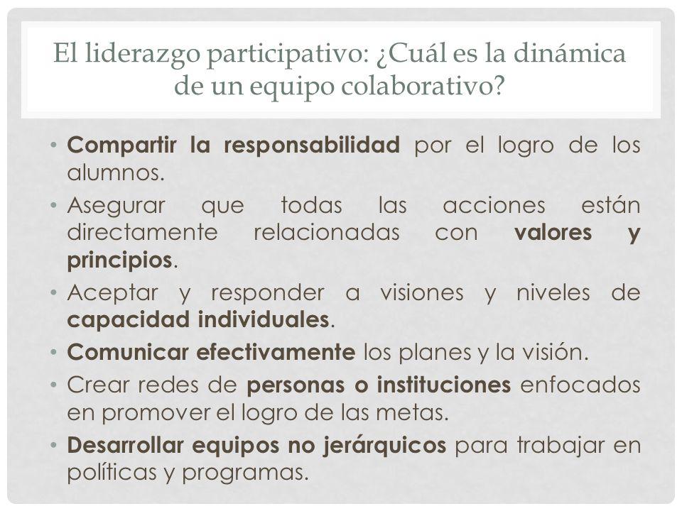El liderazgo participativo: ¿Cuál es la dinámica de un equipo colaborativo