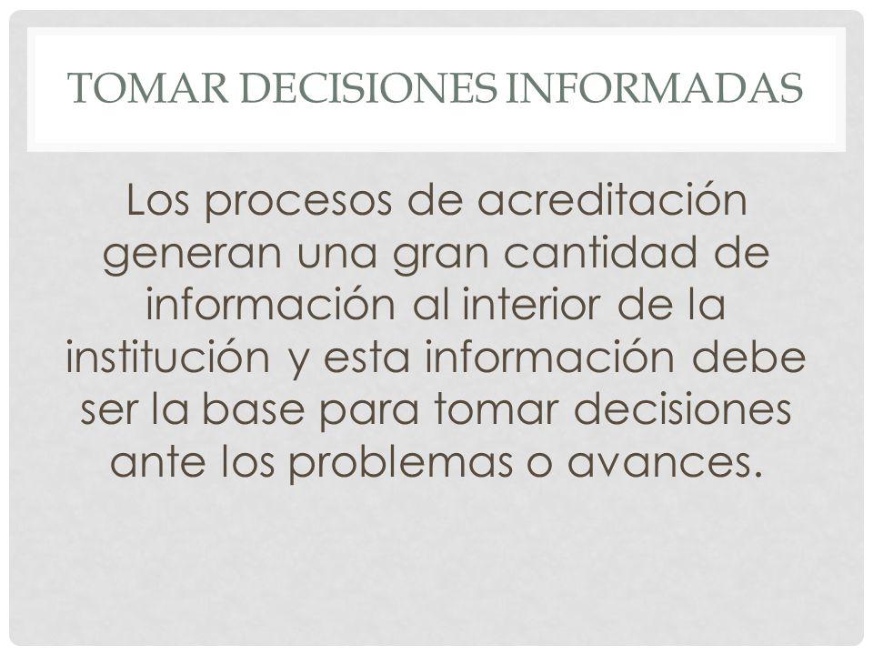 TOMAR DECISIONES INFORMADAS