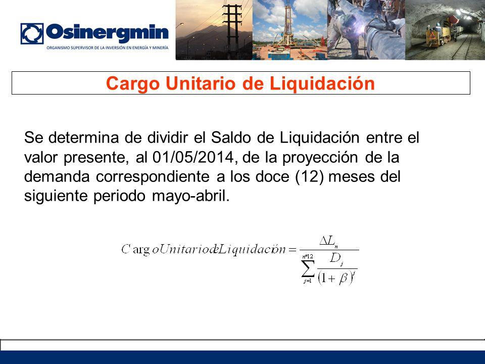 Cargo Unitario de Liquidación