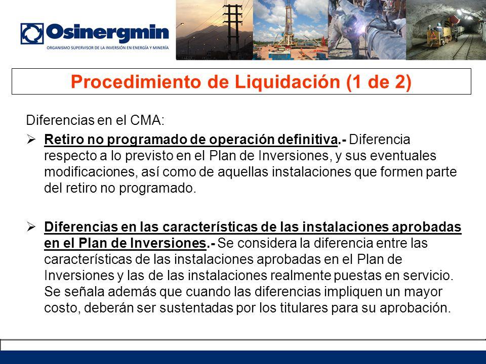 Procedimiento de Liquidación (1 de 2)