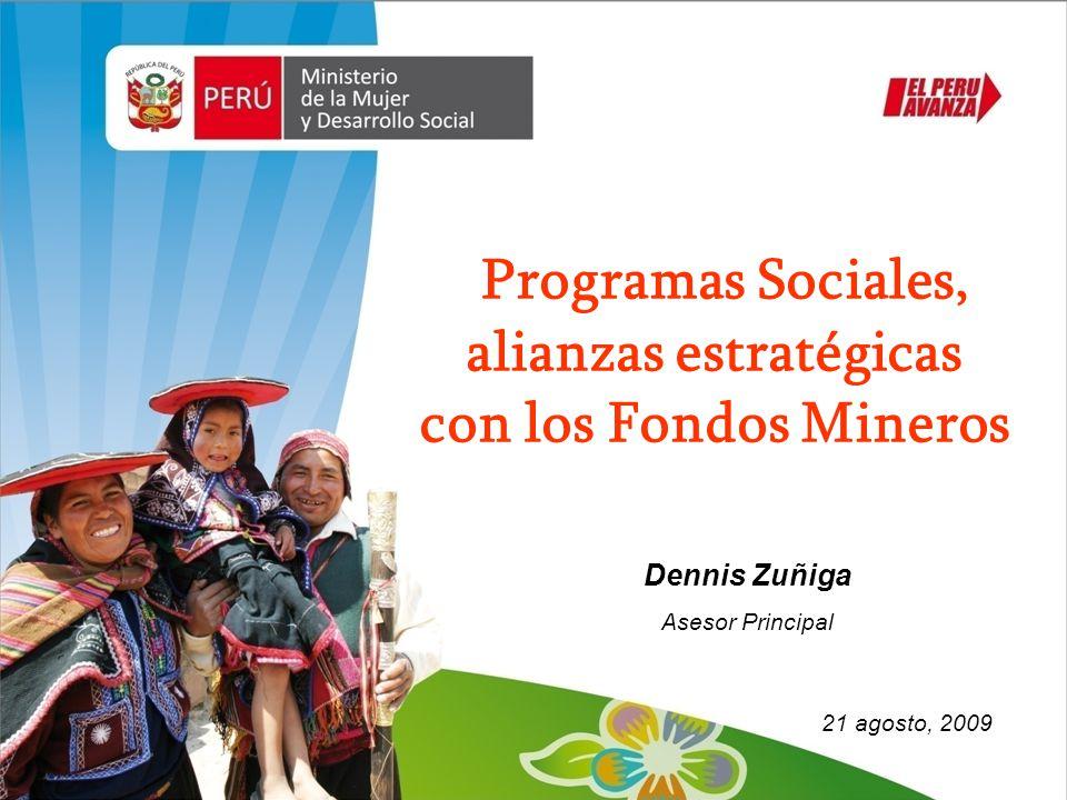 Programas Sociales, alianzas estratégicas con los Fondos Mineros