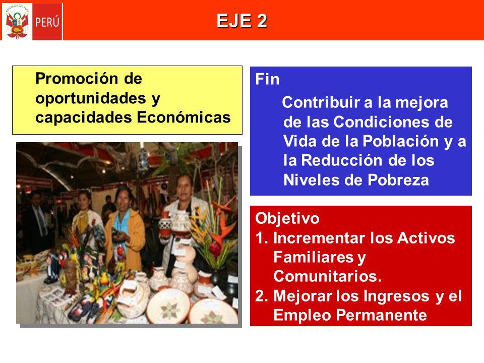 EJE 2 Promoción de oportunidades y capacidades Económicas Fin