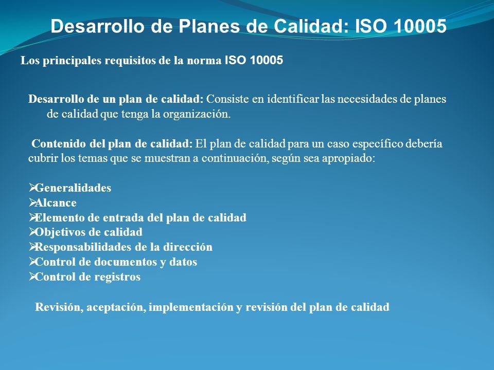Desarrollo de Planes de Calidad: ISO 10005