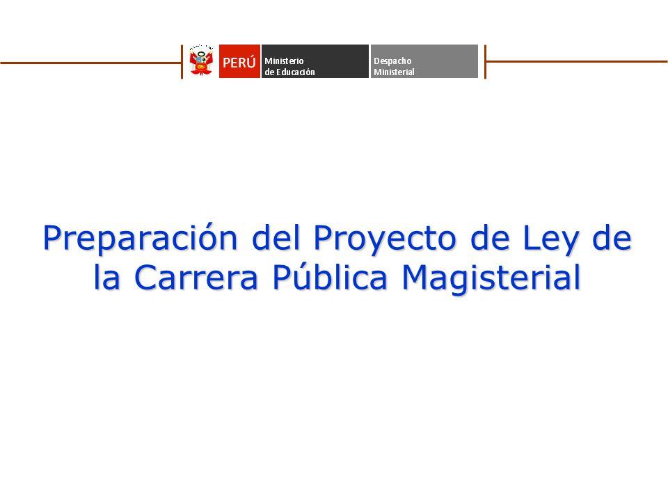 Preparación del Proyecto de Ley de la Carrera Pública Magisterial