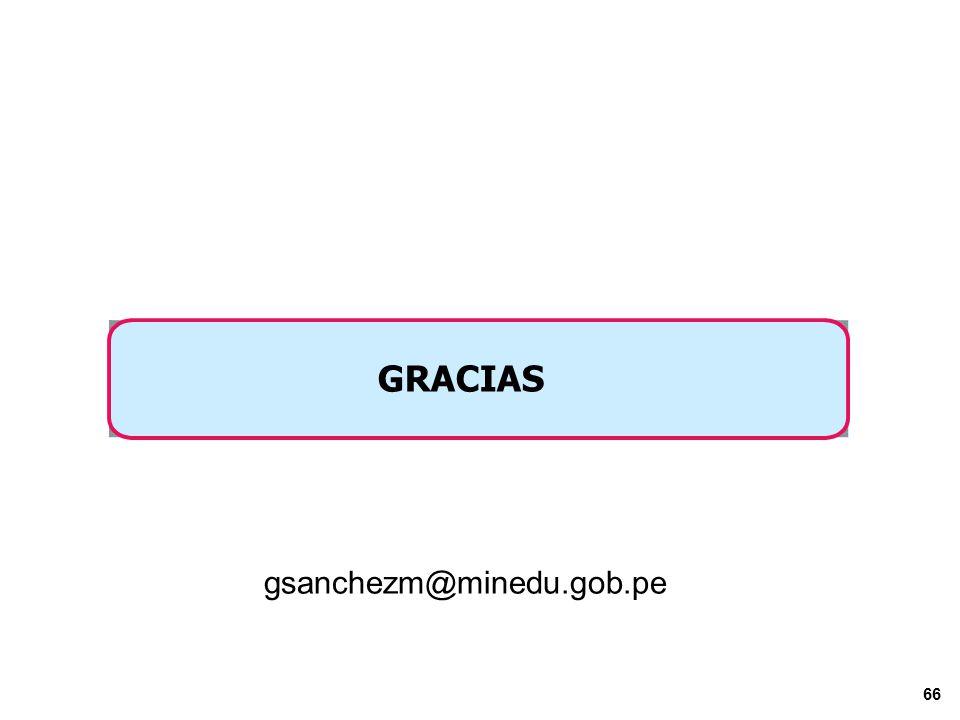 GRACIAS gsanchezm@minedu.gob.pe PERÚ Viceministerio de