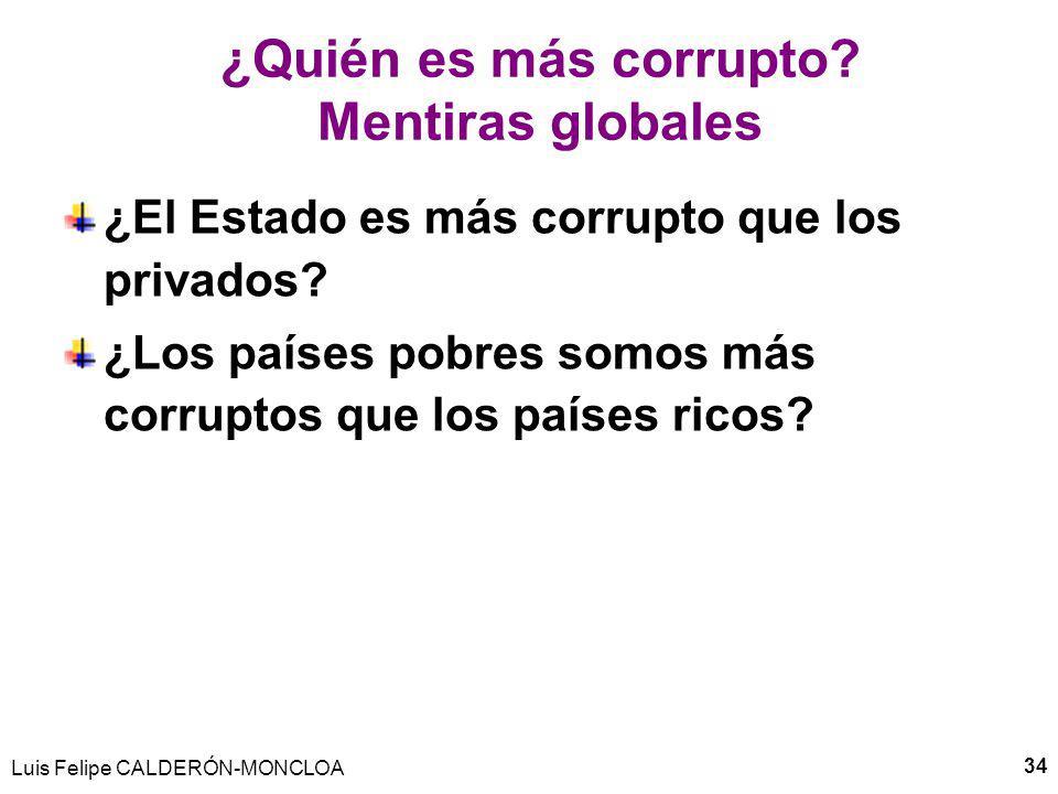 ¿Quién es más corrupto Mentiras globales