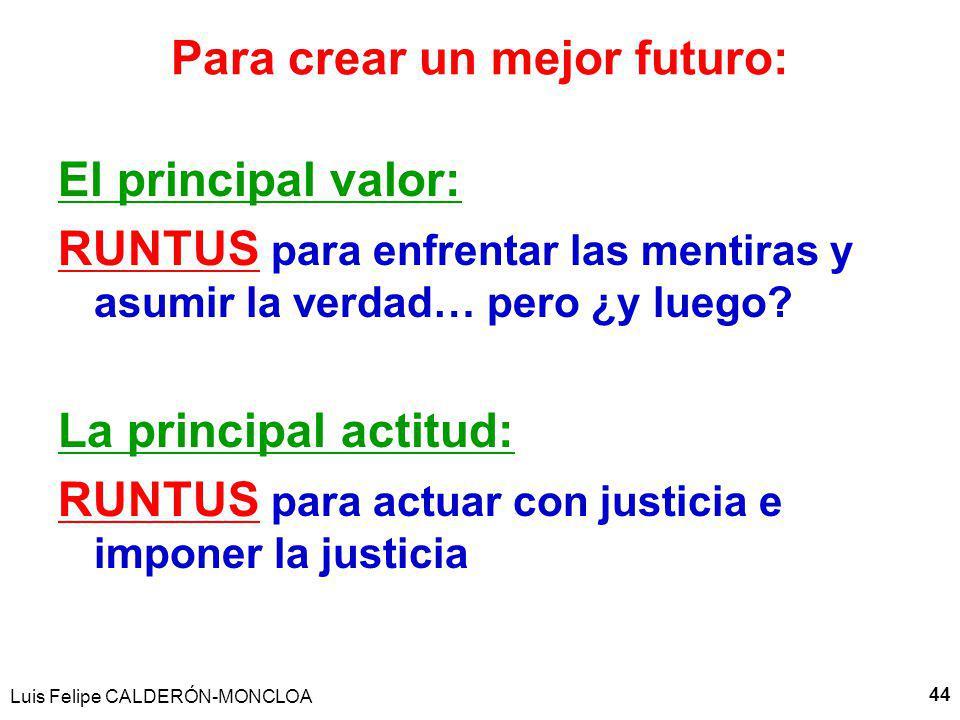 Para crear un mejor futuro: