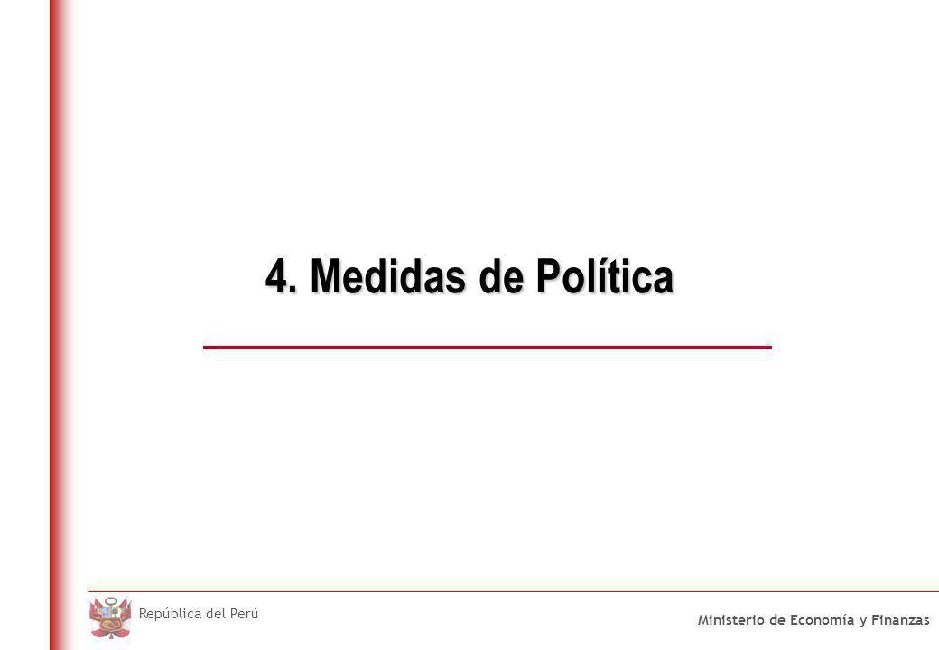 Medidas de Política 1. Medidas de Corto Plazo