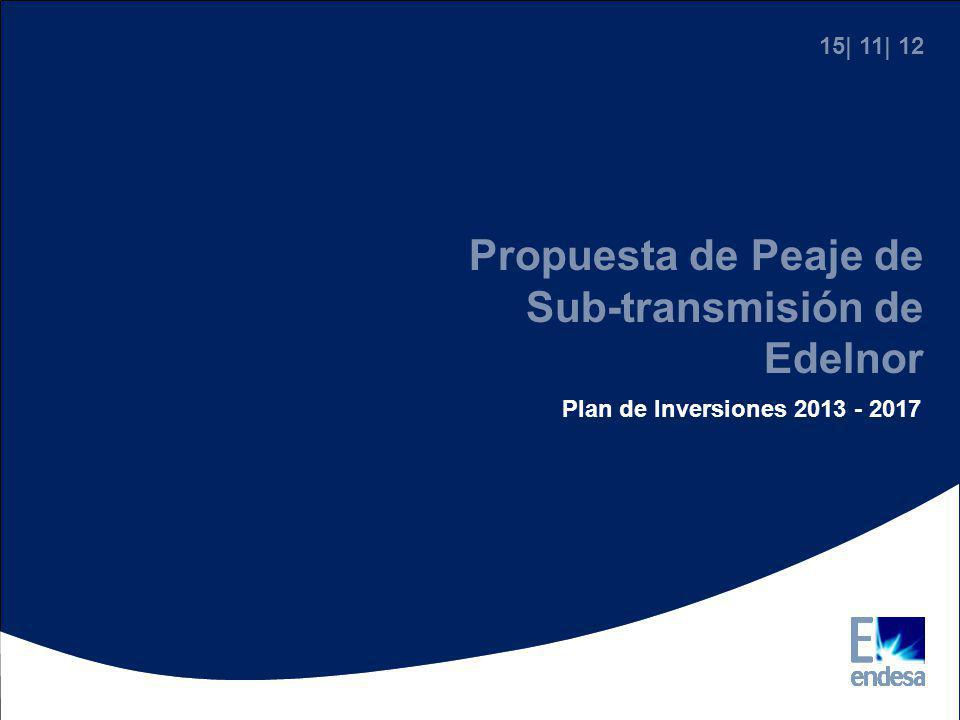 Propuesta de Peaje de Sub-transmisión de Edelnor