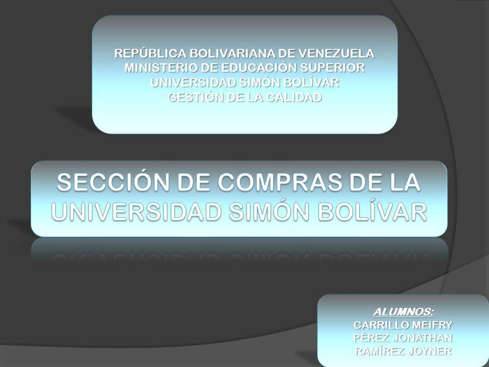SECCIÓN DE COMPRAS DE LA UNIVERSIDAD SIMÓN BOLÍVAR