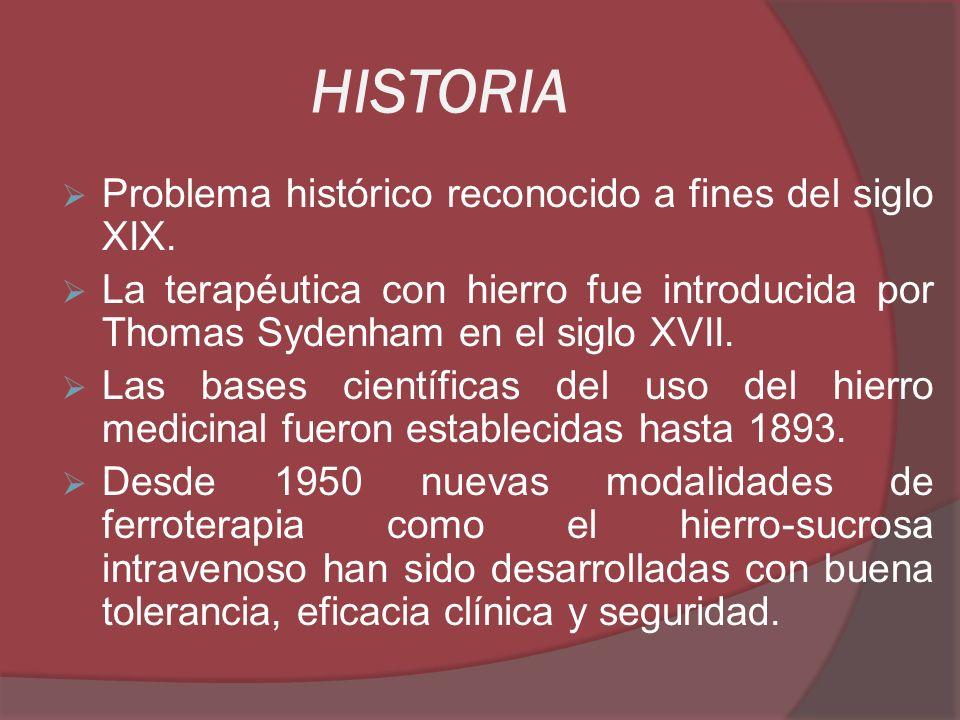 HISTORIA Problema histórico reconocido a fines del siglo XIX.