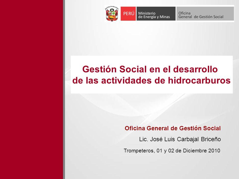 Gestión Social en el desarrollo de las actividades de hidrocarburos