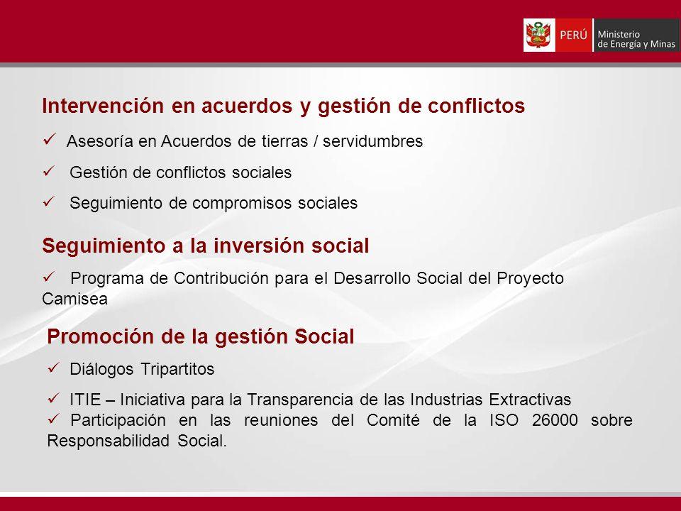 Intervención en acuerdos y gestión de conflictos