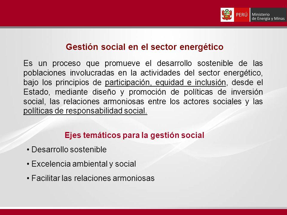 Gestión social en el sector energético