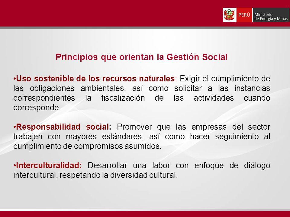 Principios que orientan la Gestión Social