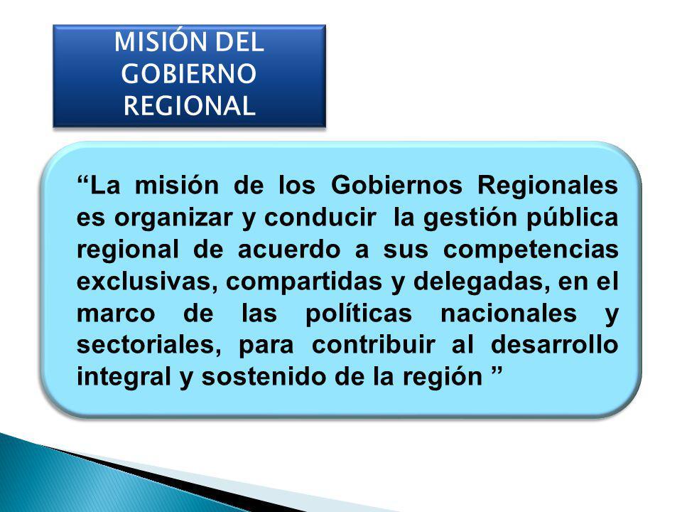MISIÓN DEL GOBIERNO REGIONAL