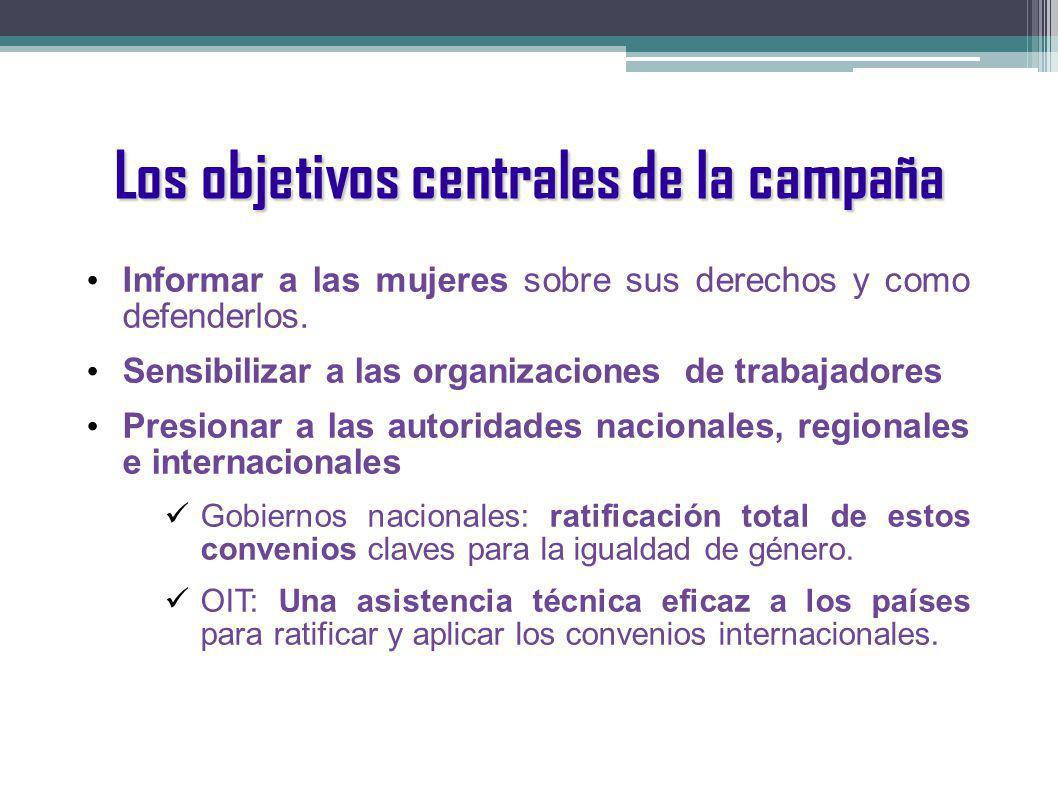 Los objetivos centrales de la campaña
