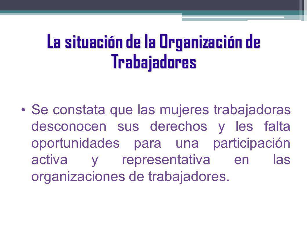 La situación de la Organización de Trabajadores