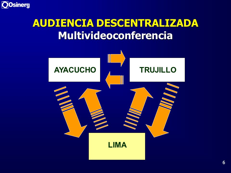 AUDIENCIA DESCENTRALIZADA Multivideoconferencia