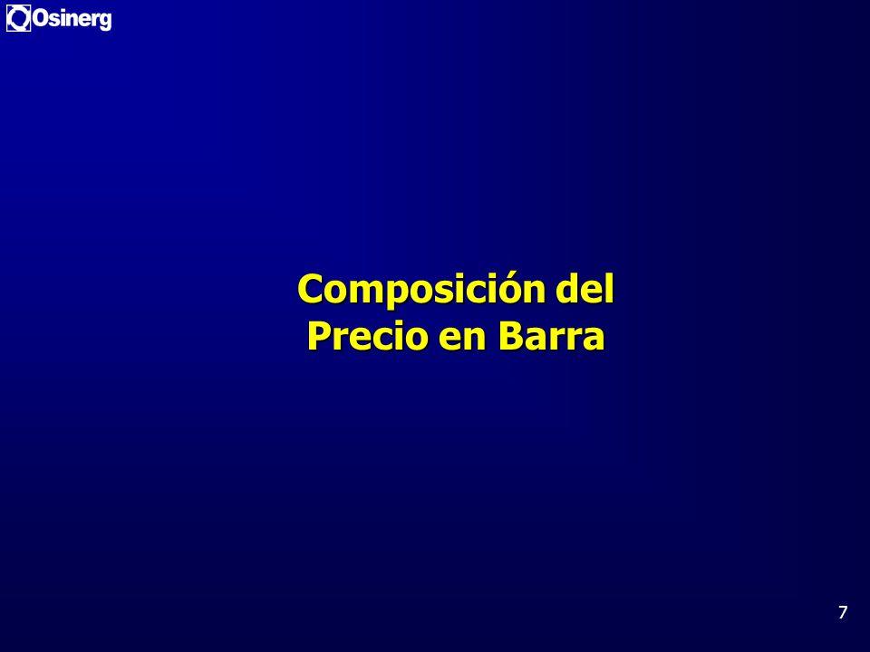 Composición del Precio en Barra