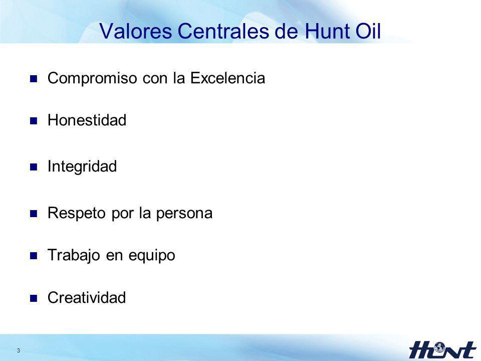 Valores Centrales de Hunt Oil
