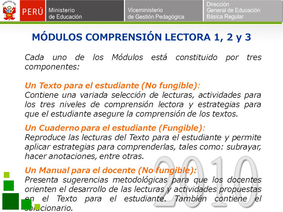 MÓDULOS COMPRENSIÓN LECTORA 1, 2 y 3