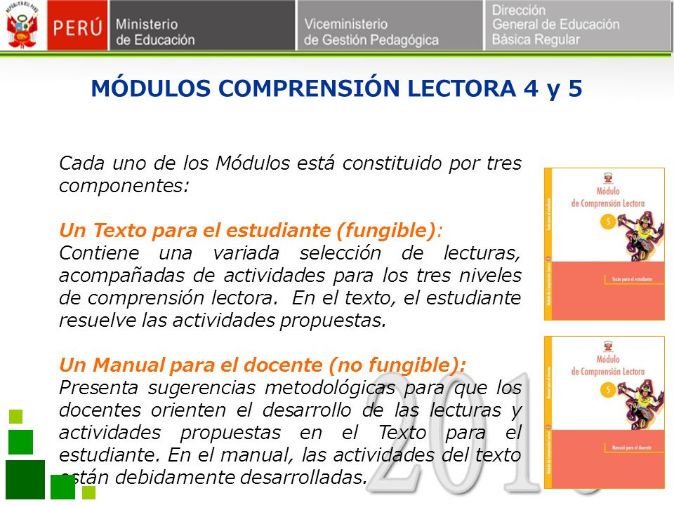 MÓDULOS COMPRENSIÓN LECTORA 4 y 5