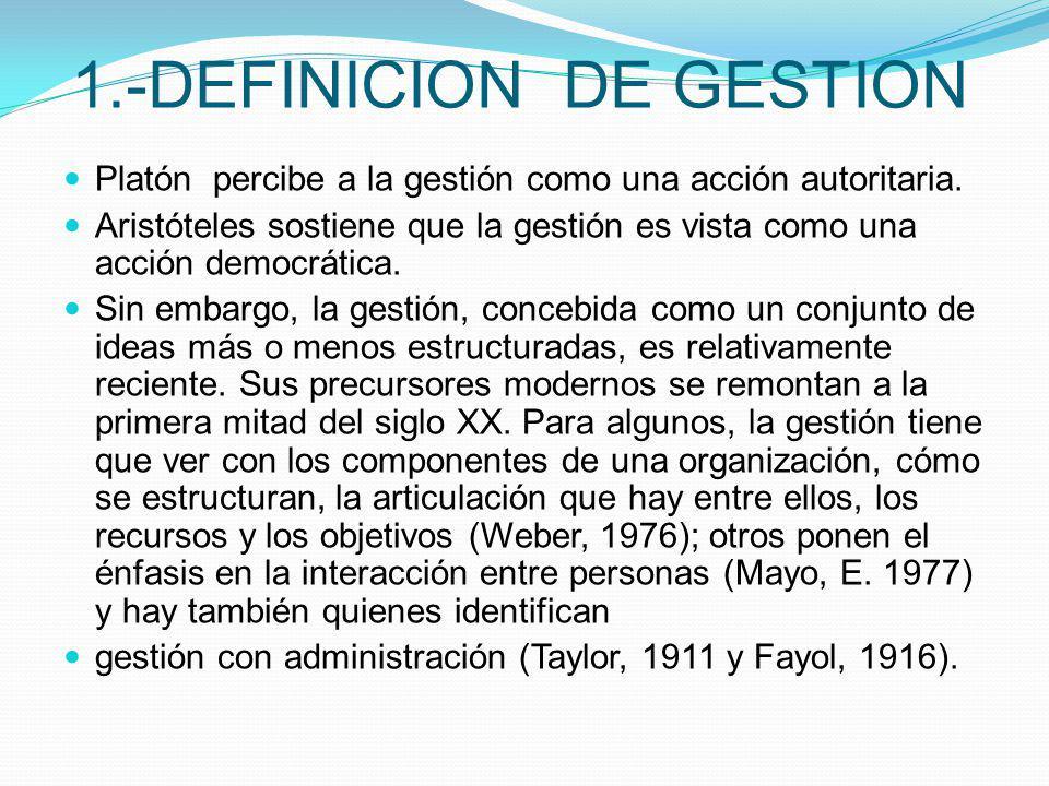 1.-DEFINICION DE GESTION